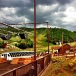 Zip lining at Park City Mountain